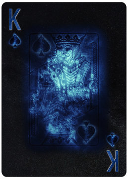 King of Spades playing card Abstract Background