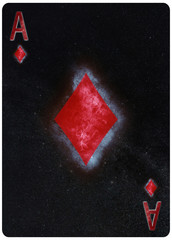 Ace of diamonds playing card Abstract Background