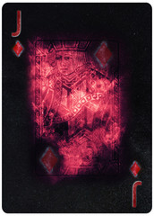 Jack of diamonds playing card Abstract Background