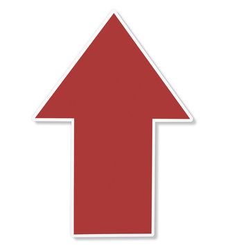 Red arrow pointing up icon