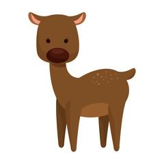 cute reindeer christmas character