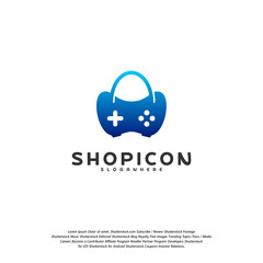 Game Shop Logo Template Design Vector
