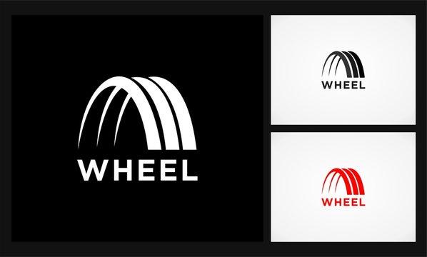 abstract wheel automotif logo