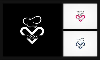 love cook icon logo