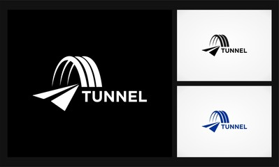 tunnel road icon logo
