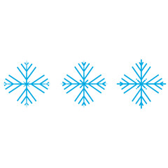 Vector illustration. Set of winter Snowflakes. Blue Snowflakes isolated on white background. Christmas set.