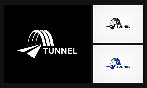 tunnel road icon logo