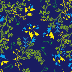 seamless blue floral pattern