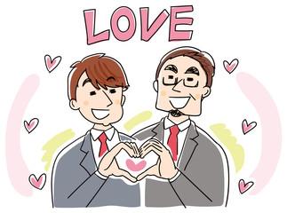 愛し合う男性のイラスト
