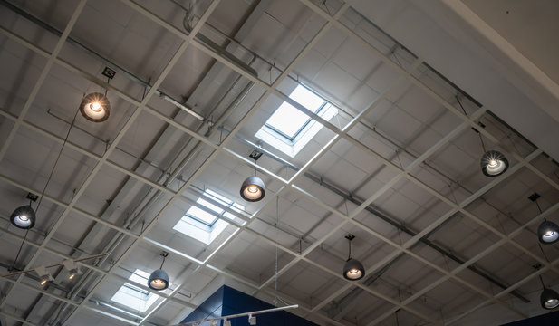 Light lamp ceiling under roof and sky light