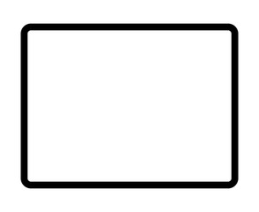 Protable tablet computer device with edge to edge screen flat vector icon for apps and websites