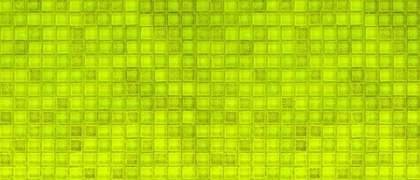 Green mosiac tiles wall