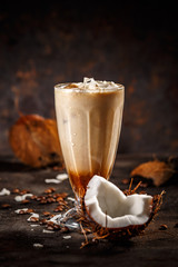 Coffee with coconut milk