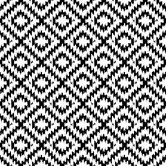 Seamless pattern Turkish carpet white black. Patchwork mosaic oriental kilim rug with traditional folk geometric ornament. Tribal style. Vector