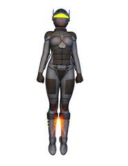 サイバー軍人女性