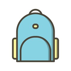 Bagpack Education Filled Outline Icon
