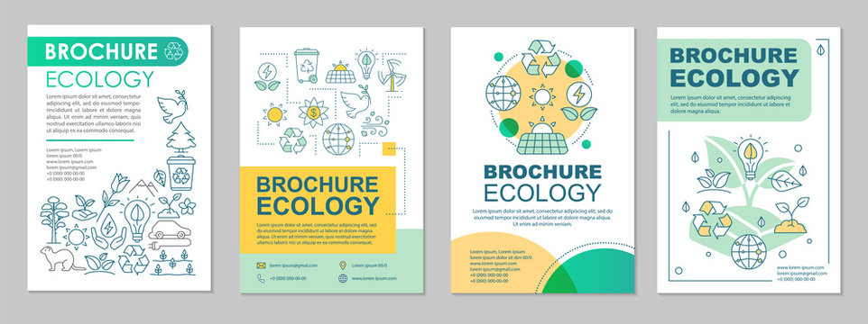 Ecology brochure template layout