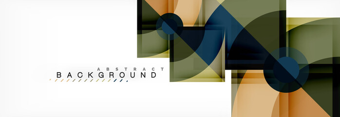 Trendy circles composition geometric background