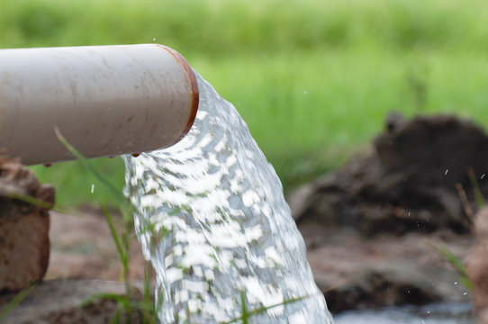A tube well in the agriculture field in the Asia