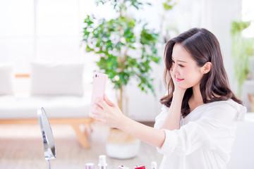 Beauty woman selfie