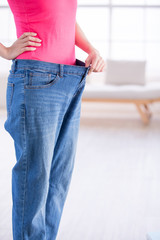 woman weight loss concept
