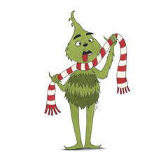 Illustration of the Grinch