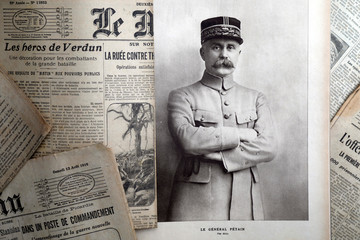 "A portrait of French General Philippe Petain published in the French newspaper ''L'Illustration"" is seen in this picture illustration"