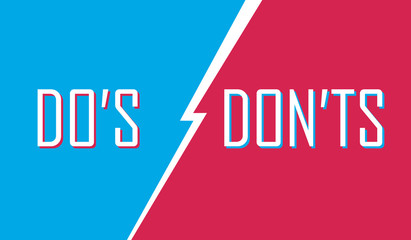Do's and Don'ts Concept