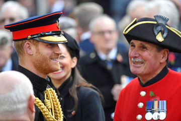 Britain's Prince Harry, the Duke of Sussex, attends a Service of Remembrance with veterans at the Field of Remembrance at Westminster Abbey in London