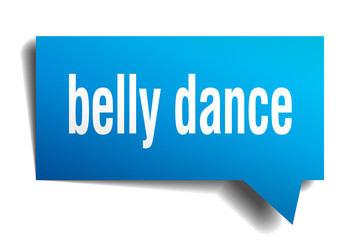 belly dance blue 3d speech bubble
