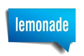 lemonade blue 3d speech bubble