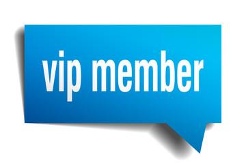 vip member blue 3d speech bubble