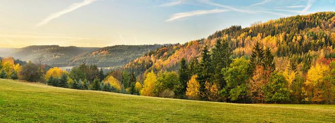 Autumn Landscape Frankenwald Bavaria Germany