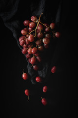 Fresh red grapes in season