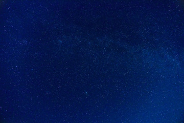 The surface of the night sky with stars