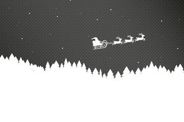 Schlitten mit Rentieren am Weihnachtshimmel