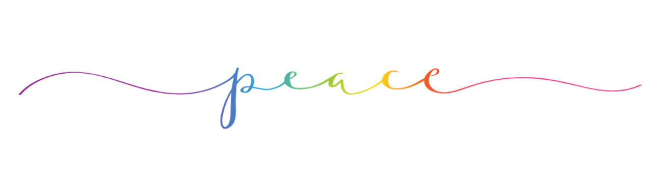 PEACE brush calligraphy banner