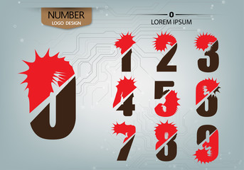 abstract numbers is logo variety on the abstract background