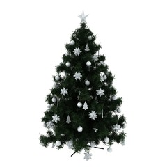 New year tree with white decoration
