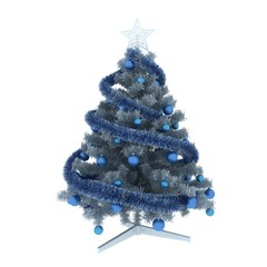 Blue tree with decroation