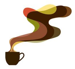 コーヒーとアロマのイラスト