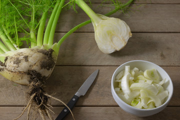 cutted fennel