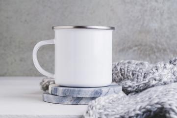 10oz white camp mug mockup
