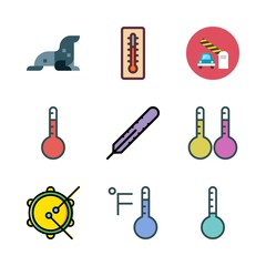 under icon set. vector set about thermometers, thermometer, sea lion and tambourine icons set.