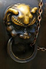 Copper animal head sculpture in the Beihai Park,Beijing, China