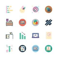 desktop icon set. vector set about graphics, graphic design, rgb and desk icons set.