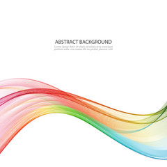 Abstract motion smooth color wave vector. Curve rainbow lines.
