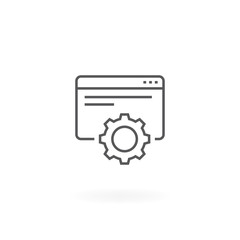 Web development icon. Website restoration symbol, Web service icon. Website repair thin line icon