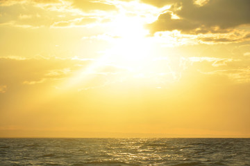 sunset, sea, sky, sun, ocean, water, sunrise, beach, nature, horizon, cloud, clouds, landscape, orange, blue, red, coast, dusk, beautiful, evening,Dominican Republic, sundown, color