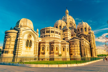 Cathedral de la Major, local landmark in Marseille, France